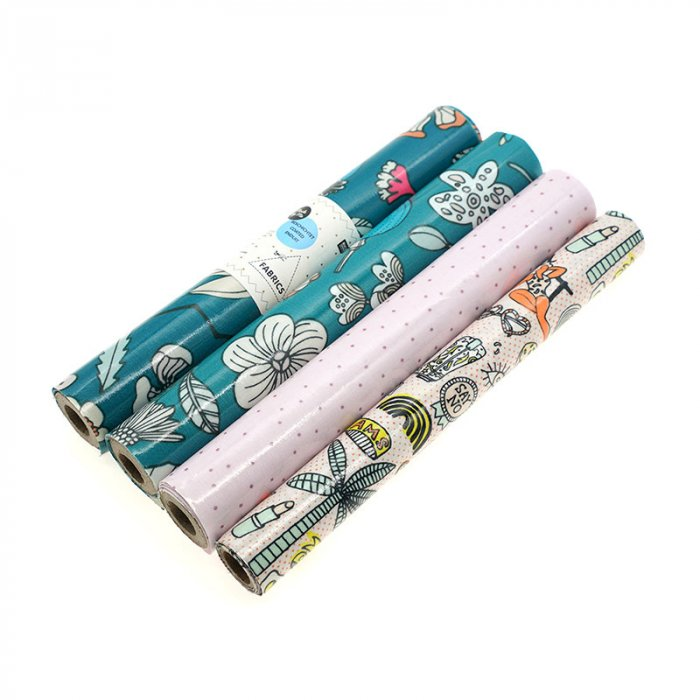 PVC coated printed cotton roll