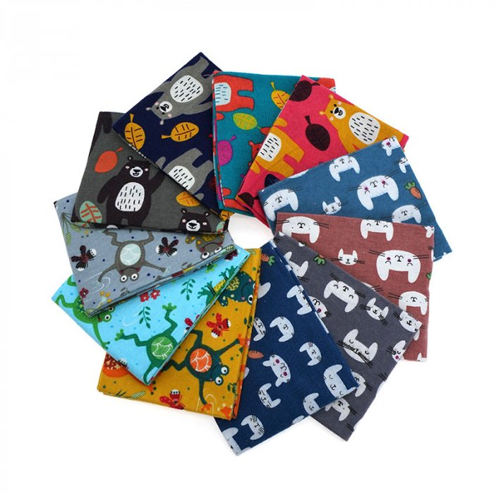 Fat quarter cotton flannel bundle