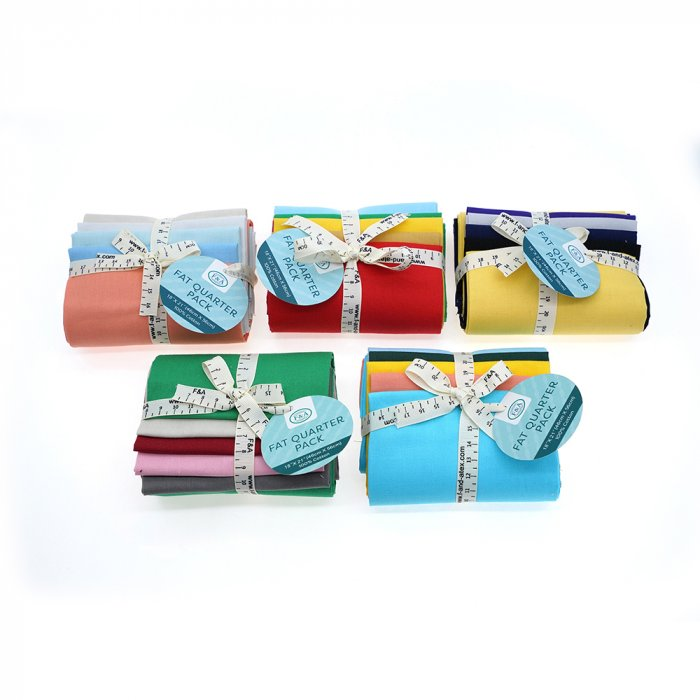 Solid color fat quarter bundles